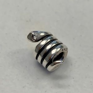 Pandora Snake Silver Charm